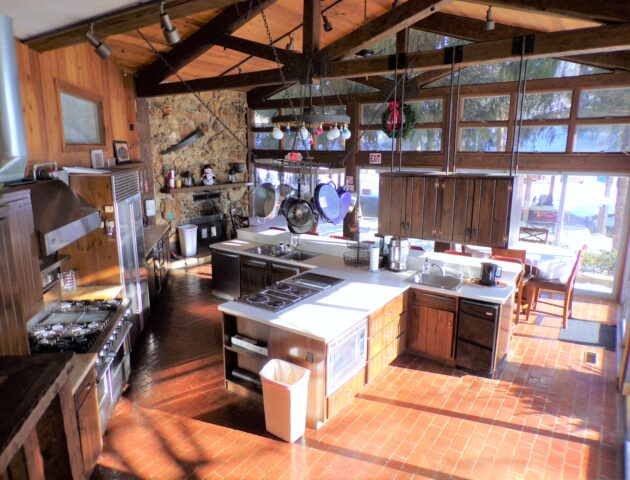 fully stocked commercial kitchen