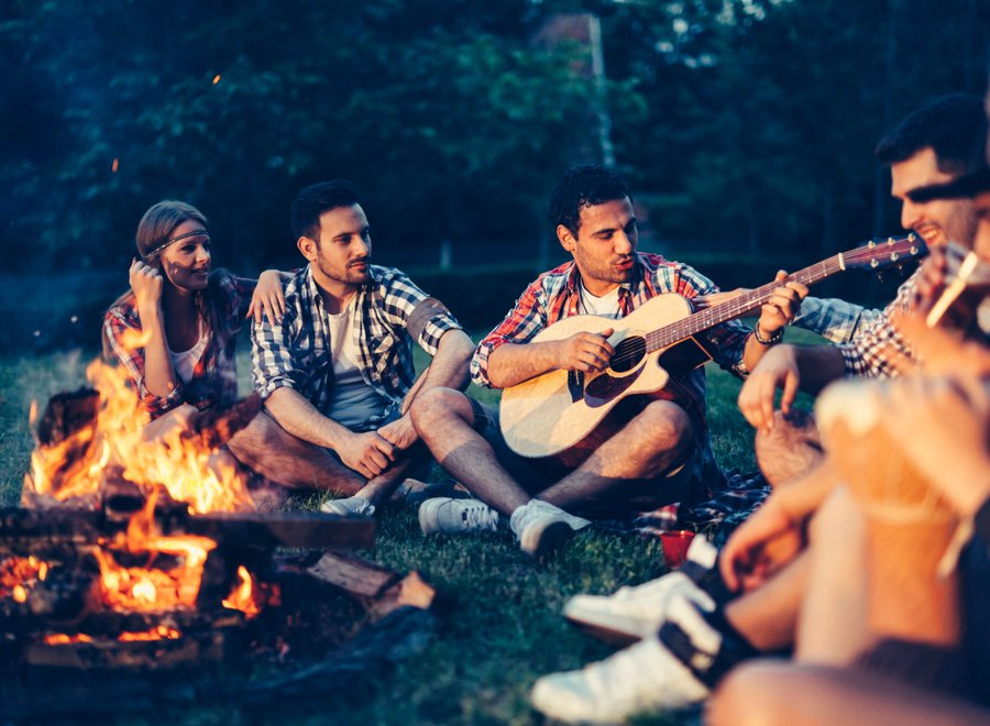 Campfire Together, you are being warmed in a campfire. Tell your story.